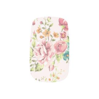 Envolturas Para Uñas Floral rosado suave