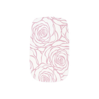 Envolturas Para Uñas hermoso, floral.pink, blanco, peonies, femeninos,