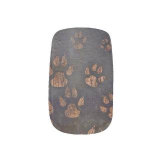 Envolturas Para Uñas La pata de Brown azul del dril de algodón imprime