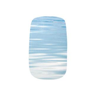 Envolturas Para Uñas Mar del azul y del blanco de la tranquilidad