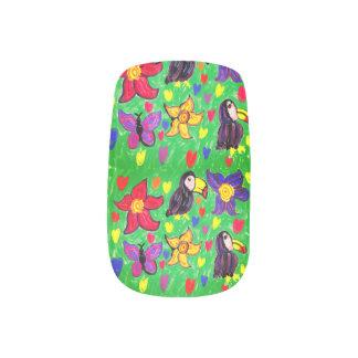Envolturas Para Uñas Mariposa de la flor de Toucan