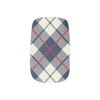 Envolturas Para Uñas Modelo de la tela escocesa de los azules marinos