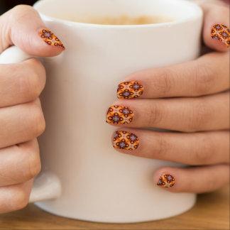 Envolturas Para Uñas Modelo de mosaico retro de la pendiente anaranjada