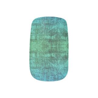 Envolturas Para Uñas Modelo verde y azul de la textura de la pendiente