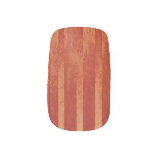 Envolturas Para Uñas Ombre entonado rojo rayado