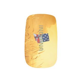 Envolturas Para Uñas Patriota de Indiana de la CAMISETA