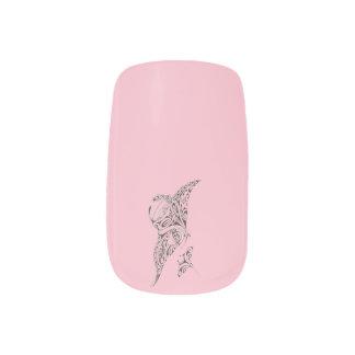 Envolturas Para Uñas rosa del rayo de manta