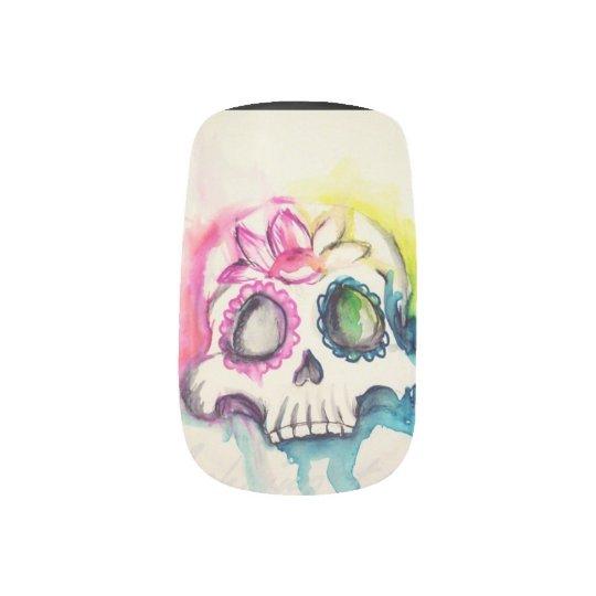 Envolturas Para Uñas sugar skull pop art para uñas