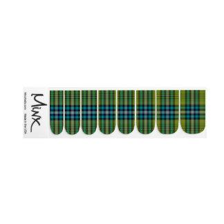 Envolturas Para Uñas Tela escocesa de tartán