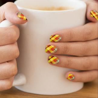 Envolturas Para Uñas Tela escocesa/tartán - 'Sunflower