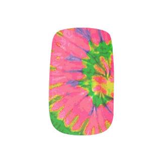 Envolturas Para Uñas Teñido anudado retro del hippy