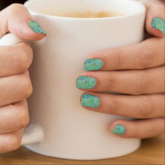 Envolturas Para Uñas Watercolour azul y verde Splat