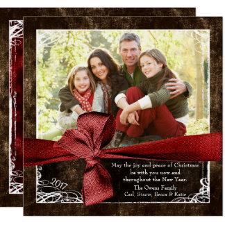 Envuelto en tarjetas de Navidad de la foto del
