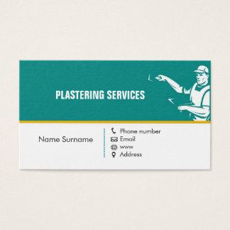 Enyesado de la tarjeta de la empresa de servicios
