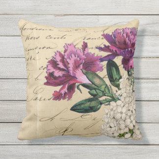 Ephemeras púrpuras de la flor cojín decorativo