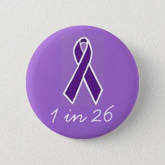 """Epilepsia """"1 en 26"""" botón"""