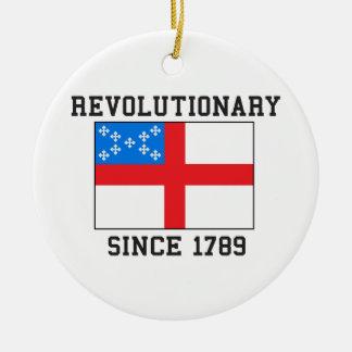 Episcopal desde 1789 adorno navideño redondo de cerámica