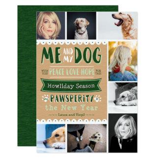 EPOPEYA yo y mi perro 5x7 Photocard (8 imágenes) Invitación 12,7 X 17,8 Cm