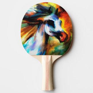 Equestrian hermoso abstracto del blanco gris del pala de ping pong