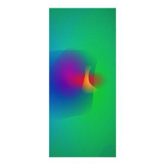 Equilibrio abstracto verde tarjeta publicitaria personalizada