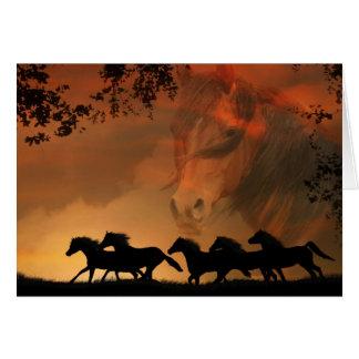 Equino - tarjeta de condolencia del caballo