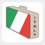 Equipaje de Italia Pegatina Cuadrada