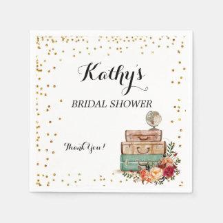 Equipaje de la falta a señora Bridal Shower Servilletas De Papel
