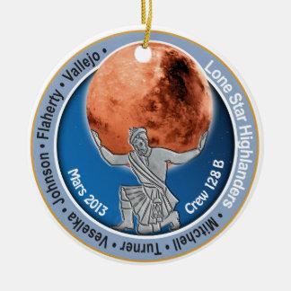 Equipo 128B de Marte 101 Adorno Navideño Redondo De Cerámica