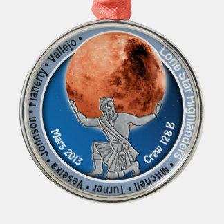 Equipo 128B de Marte 101 Adorno Navideño Redondo De Metal