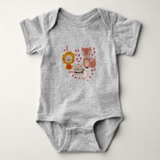 Equipo animal del bebé body para bebé
