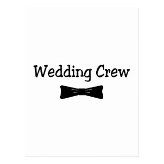 Equipo Bowtie del boda Postal