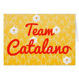 Equipo Catalano Tarjeta De Felicitación