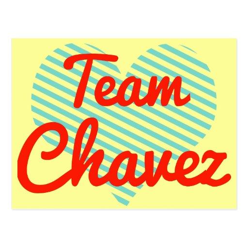Equipo Chavez Tarjeta Postal