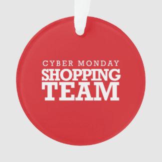 Equipo cibernético de las compras de lunes
