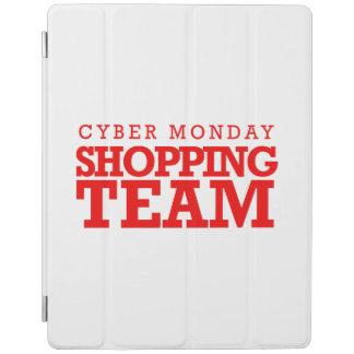 Equipo cibernético de las compras de lunes -- cubierta de iPad