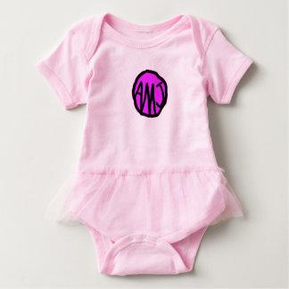 Equipo con monograma adaptable del bebé body para bebé