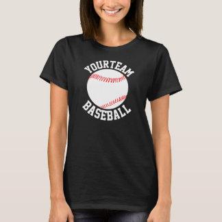 Equipo de béisbol, nombre del jugador y camiseta