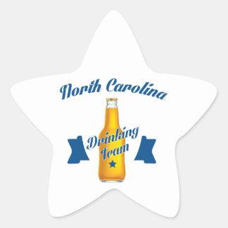 Equipo de consumición de Carolina del Norte Pegatina En Forma De Estrella