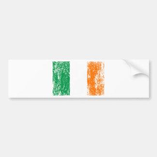 Equipo de consumición de la bandera irlandesa pegatina para coche