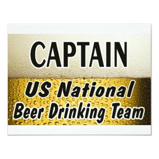 Equipo de consumición de la cerveza nacional de invitación 10,8 x 13,9 cm