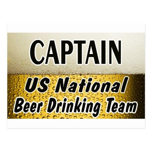 Equipo de consumición de la cerveza nacional de lo tarjetas postales