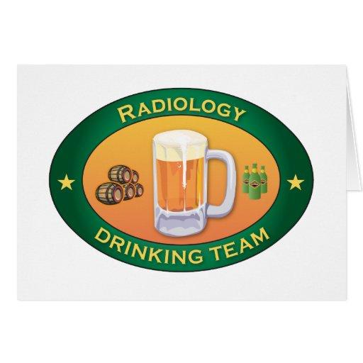 Equipo de consumición de la radiología tarjeton