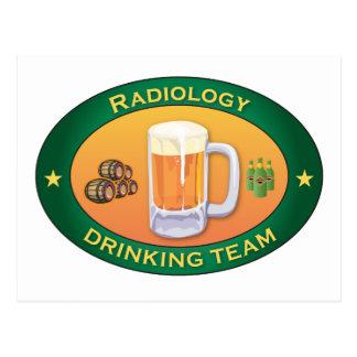 Equipo de consumición de la radiología tarjetas postales