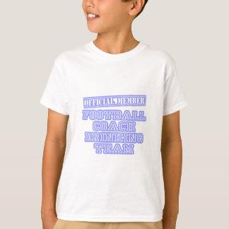 Equipo de consumición del entrenador de fútbol camiseta
