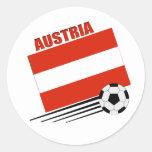 Equipo de fútbol austríaco pegatina redonda