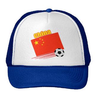 Equipo de fútbol chino gorros