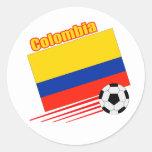 Equipo de fútbol de Colombia Pegatina Redonda