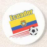 Equipo de fútbol de Ecuador Posavasos Diseño