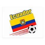 Equipo de fútbol de Ecuador Tarjeta Postal
