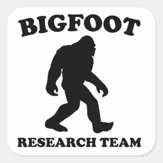 Equipo de investigación de Bigfoot Pegatina Cuadrada